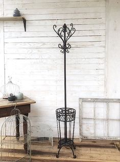 Coat Rack Iron Coat Stand French Country Decor by CamillaCotton