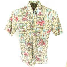 e80ce9ad Vintage 90s Reyn Spooner Hawaiian Shirt XL Mele Kalikimaka Christmas 1995  Floral