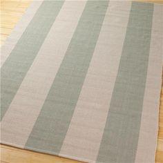 Wide Stripe Flat Weave Rug: 5 Colors
