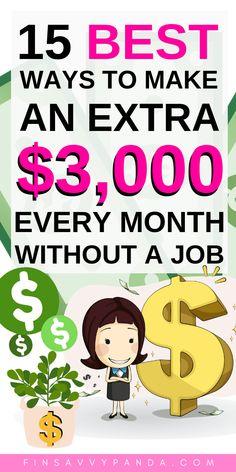 Ways To Earn Money, Earn Money From Home, Earn Money Online, Online Jobs, Way To Make Money, Money Fast, Money Tips, Mo Money, Extra Money