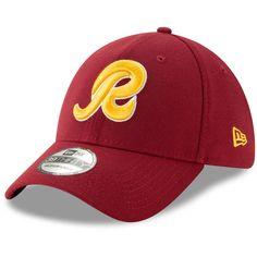ee3ed7b9e Men s Washington Redskins New Era Burgundy Script Team Classic 2.0 39THIRTY Flex  Hat