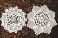 DOILY table runner Hand CROCHETED LACE 2 by RenaissanceProfessor, $12.90