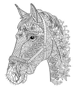 Horse Coloring Book Stress Relief Patterns For Adult Relaxation