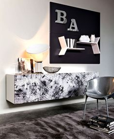 Sydney Is An Original And Creative Suspended Sideboard With Customizable  Doors Made By Ronda Design. Suspended Sideboard With White Matt Lacquered