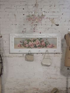 Painted Cottage Chic Shabby Romantic Rose Canvas Print