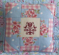 Country Patchwork Cushion Shabby Chic by DeniseThompsonDesign, £25.00