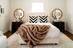 LUXE FAUX FUR - Faux fur - brown - Bedroom decor - Cocooning - Cozy home - Love it.