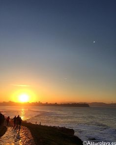 simply Gijón :) #Spain Asturian, Best Sunset, Atlantic City, Sunsets, Beach, Instagram Posts, Outdoor, Image, Sevilla Spain