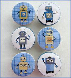 Kids Dresser Knobs Drawer Knobs Robots by SweetPetitesBoutique, $5.00