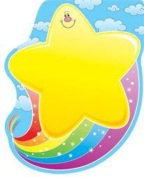 Rainbow Stars | Home :: Paper Products :: Notepads :: Star with Rainbow Notepad
