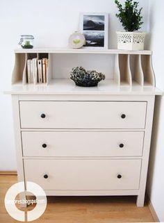 DIY praktischer Kommoden-Aufsatz für die Ikea Hemnes Kommode                                                                                                                                                                                 Mehr