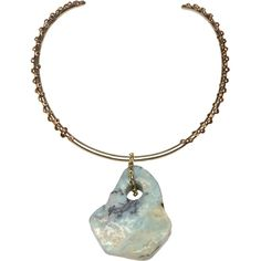 ANNDRA NEEN Brass Choker with Amazonite Pendant (3.365 ARS) ❤ liked on Polyvore featuring jewelry, necklaces, accessories, chokers, ball pendant, pendant jewelry, anndra neen jewelry, choker necklaces and choker pendants