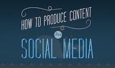 How To Produce Content For Facebook, Twitter, Instagram, LinkedIn, Tumblr and Snapchat- infographic