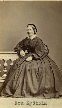 """Fru Rydholm"" (Mrs Rydholm), Sweden, 1860's. Bohusläns Museum, nr. UMFA55052:0005"