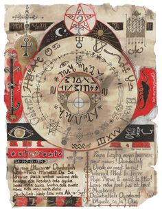 """Voodoo Art by Brian Gumbrell, via Behance An experiment with Voodoo and other majical symbols into art. The symbols are based on the voodoo 'Garde', which is a talisman, when carried protects you against bad spirits. Drawn and painted on old parchment type paper to give it that olde worlde look and feel. A bit strange, I know, but a good conversation piece."""