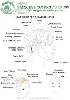 Access Bars Head Chart - Let's make change happen! All with Ease Joy & Glory!