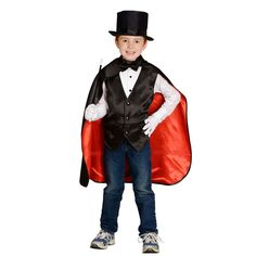 Aeromax Jr. Magician with Top Hat Costume Kids Unisex - MAG-SM  sc 1 st  Pinterest & Female version of this. Tight black pants red band and bow tie ...