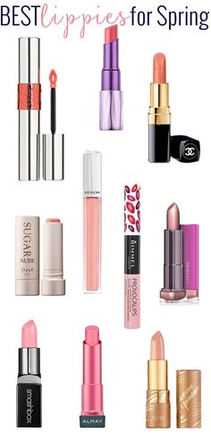 Top 10 Lippies for Spring: New lipsticks, long-lasting lipgloss stains and just really pretty glosses, there is plenty to love for the lips for spring.