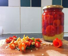 Picture of Sweet Pepperdew Peppers Jam Recipes, Canning Recipes, Sauce Recipes, Healthy Recipes, Recipies, Healthy Food, Pepper Recipes, Peppadew Peppers, Pepper Plants