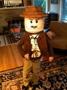 DIY Halloween Costumes: How To : DIY Lego Indiana Jones Costume : DIY Halloween DIY Lego Costume