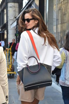 Pin for Later: Proof the Prettiest Street Style Accessories Were at Paris Fashion Week Day 4 Fendi bag.