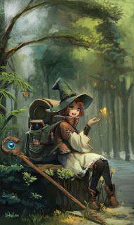 New drawing anime fantasy inspiration Ideas Anime Fantasy, Fantasy Kunst, Dark Fantasy, Fantasy Witch, Fantasy Wizard, Art And Illustration, Character Illustration, Fantasy Artwork, Art Manga
