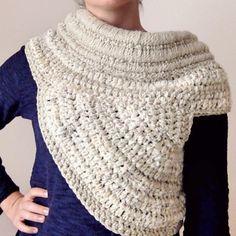 Cómo hacer un katniss cowl a crochet o ganchillo - tutorial paso a paso