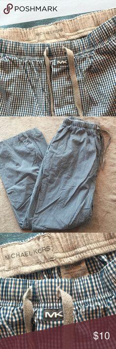 Michael Kors pajama pants Excellent condition blue gingham Michael Kors pajama pants. Size Medium (men's) 100% cotton. Michael Kors Pants
