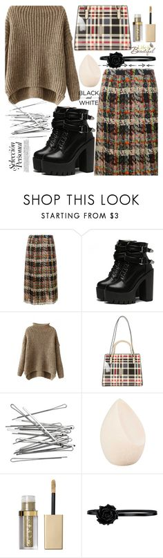 """""""296"""" by erohina-d ❤ liked on Polyvore featuring Blumarine, Diophy, H&M, Christian Dior, Stila, Yves Saint Laurent and Wall Pops!"""