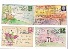 Оборот открытки посткроссинга, пишут открытках цветах