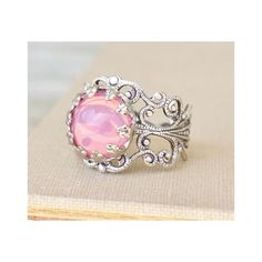 Silver Cotton Candy Ring ❤ liked on Polyvore featuring jewelry, rings, blue silver jewelry, silver rings, pink jewelry, galaxy ring and silver jewellery