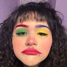 u can paint me any color and i can be ur clown Edgy Makeup, Unique Makeup, Makeup Goals, Colorful Makeup, Makeup Inspo, Makeup Art, Makeup Inspiration, Beauty Makeup, Cute Clown Makeup