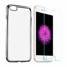 DDSKY Iphone Case for Iphone 7 with Toughened Glass Membrane For Free Falling Defensive Protector Clear Soft Cellphone Shell, Scratch Resistant (Iphone 7 Dark Grey) -- Awesome products selected by Anna Churchill