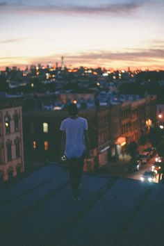 Even though Dan does not like heights- we climb up on the roof for a romantic view of the city. #OPALlovestorycontest