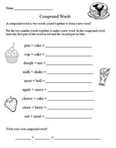 Naming Chemical Compounds Worksheet Answers Excel Compound Words Worksheets And Activities Mega Pack  Compound  Parts Of A Flower Worksheet For Kindergarten Word with First Grade Preposition Worksheets Word Laura Numeroff Author Study Activities  Compound Words  Will Not Use The  Worksheet But Like The Practice Find The Missing Addend Worksheet Pdf