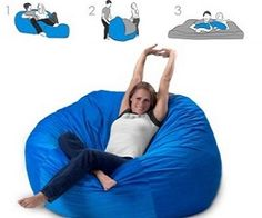 Convertible Bean Bag Bed kinda cool for when guests come over.