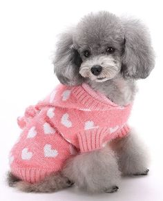 MaruPet Christmas Dog Ribbed Knit Sweater Knitwear with Hat Princess Sweety Heart Kintted Doggie Halloween Hoodies Apparel for Small Dog -- Check this awesome image  : Christmas Presents for Cats