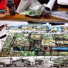 Al fin!! Creo que no botare ningún árbol. Empieza el proceso milímetrico. Arquitectura y naturaleza. #Padgram