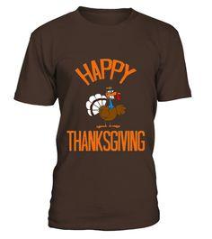 Happy Thanksgiving Turkey Day Pilgrim Hat T-shirt
