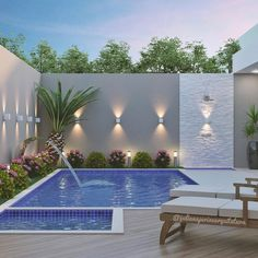 Recycle, Reuse and Reduce: Gardens with small pools - Piscina Small Swimming Pools, Small Pools, Swimming Pools Backyard, Swimming Pool Designs, Backyard Pool Landscaping, Backyard Pool Designs, Small Backyard Landscaping, Landscaping Ideas, Landscaping Melbourne
