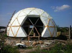 Dome house in Nizhny Tagil, the village Serebryanka