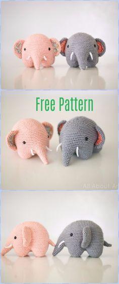 Crochet Kawaii Elephant Free Pattern - Crochet Elephant Free Patterns