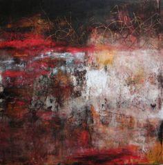 """Storia Muro II"" Oil/Cold Wax 24""x24"" Lisa B. Boardwine"