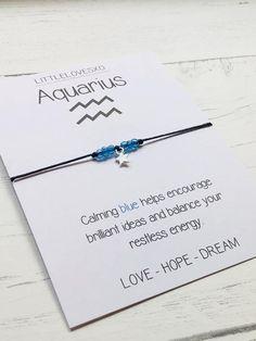 Zodiac Signs Aquarius, Aquarius Quotes, Aquarius Facts, Christmas Gifts For Boyfriend, Boyfriend Gifts, Wish Bracelets, Handmade Bracelets, Time Love Quotes, Diy Gift For Bff