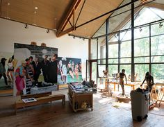 Eric Fischl Art Studio and Space - love the windows, light and space. Loft Studio, Dream Studio, Carpe Diem, Atelier Creation, Painters Studio, Design Commercial, Art Studio Design, Art Studios, Artist At Work