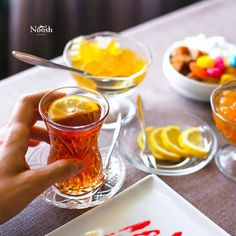 Traditional Azerbaijani tea drinking  #nooshrestaurant #noosh #beatgroup #baku #azerbaijan #restaurants #food #cuisine #nationalcuisine #traditionalcuisine #teas #teadrinking #jams #lemontea #sweets #candies