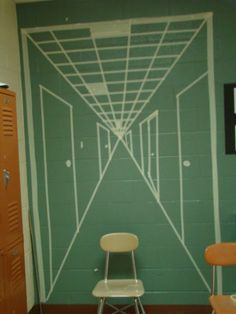 masking tape murals - Google Search Middle School Art, Art School, Masking Tape, Washi Tape, Tape Art, Arts Ed, Student Learning, Art Lessons, Tile Floor