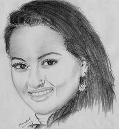 Sonakshi Sinha, My Pencil Drawing