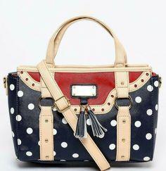 Navy Red Polka Dot Spotted Handbag Shoulder Bag 50s Vintage Rockabilly Crossbody #Unbranded #Crossbody 50s Vintage, Rockabilly, Polka Dots, Shoulder Bag, Navy, Red, Pattern, Stuff To Buy, Hale Navy