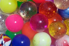 Quarter machine bouncy balls. My Gma use to let me bounce these suckers all over her kitchen, I thought it was hilarious.
